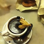 Churros dipped in hot chocolate