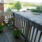 view of the Kennebec river from patio