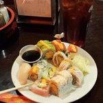 Selection of sushi.
