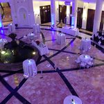 Rotunda being set up for private event
