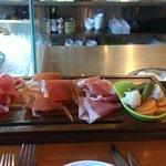 three ham platter, yum!