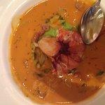Zuppa di aragosta del Maine