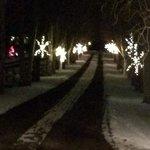 lit driveway