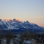The Tetons at sunrise