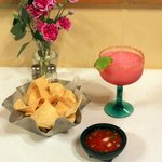 Fresh salsa and the best margaritas in town!
