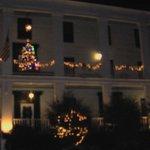 Christmas Lit Balconies