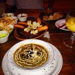 Tortilla soup, Shrimp appetizer