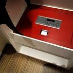 Handy digital safe in the hotel room