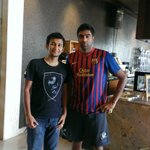 With Indian Cricketer Ashwin in Dining Area