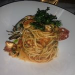Linguine with sea food