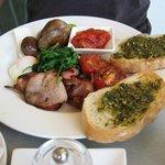 Vegetarian Breakfast with Bacon