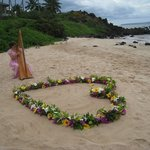 Wedding on White Rock beach in Wailea
