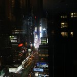 View of Times Square at night