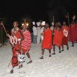 Venerdì cena con i Masai