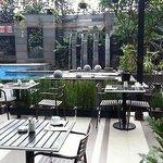 Poolside breakfast! Great view,