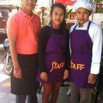 Mr Toho, Ms Sopheap (housekeeping), Ms Mao (chef)
