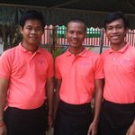 Manager, Mr Toho & Receptionists Savath & Sochea