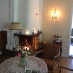 Rosenfors Herrgård - Öppen spis i matsalen
