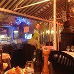 терраса ресторана в зимний период
