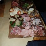 The assorted meat/antipasto platter