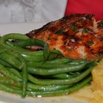 Salmon with green beans - said one of the best she's had!