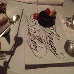 tortino di compleanno omaggiata dal ristorante