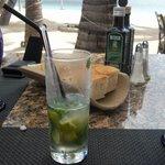 restaurant italien au bord de la plage