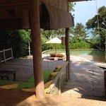 Private Terrasse mit Pool