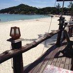 la spiaggia dal bar terrazzo