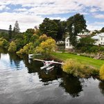 Arriving in style - by seaplane