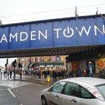 Camden Town bridge nearby