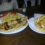 souvlaki and pita gyros