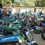 Pub Car Park full of classic bikes