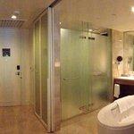 foyer and bathroom