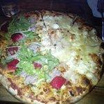 Large Pizza 4 Formaggi and Carpaccio&strawberries