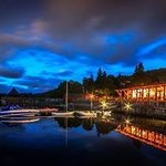 Taymouth Marina at night