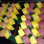 Salmon and Tuna Mango Roll