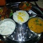 Repas thali a 12.5€ le midi