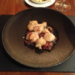Scallop, cauliflower and pomegranate main course