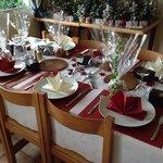 Joyeux Noël table setting