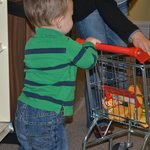 Shopping in the Pint Sized Grocery Store