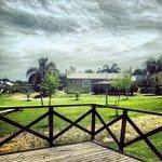 Vista del parque y bungalows vecinos