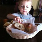 he loves the bread and I love the dipping oil