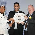 Winner of the Curry Life Chef Awards 2013 - With Eric Pickles MP