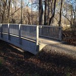 One of the bridges on the wooded trails.