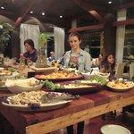 Mesa del buffet cena