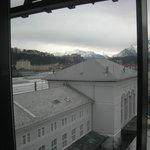 Blick vom Restaurant zur Altstadt von Salzburg