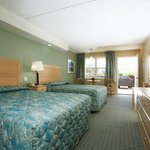 Our deluxe motel rooms feature two beds and a private bath
