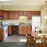 Fully Equipped Kitchen with Large Refrigerator & Electric Oven