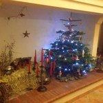 la deco de Noel dans la cheminee